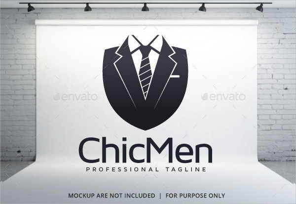 Professional Chic Men Logo Template