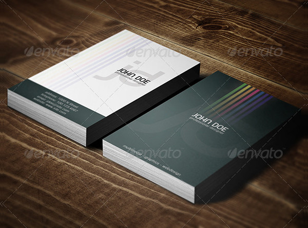 Professional Colors Business Card Template