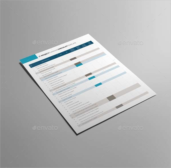 Project Planning Checklist Template & US Letter