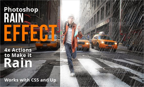 Rain Photoshop Action Free Download