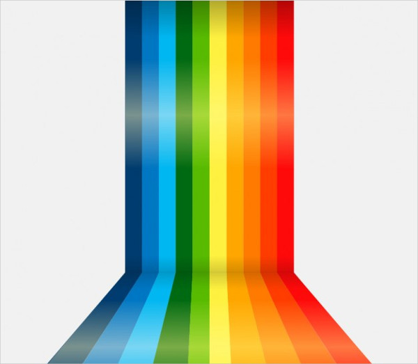 Rainbow Lines Background Free Vector