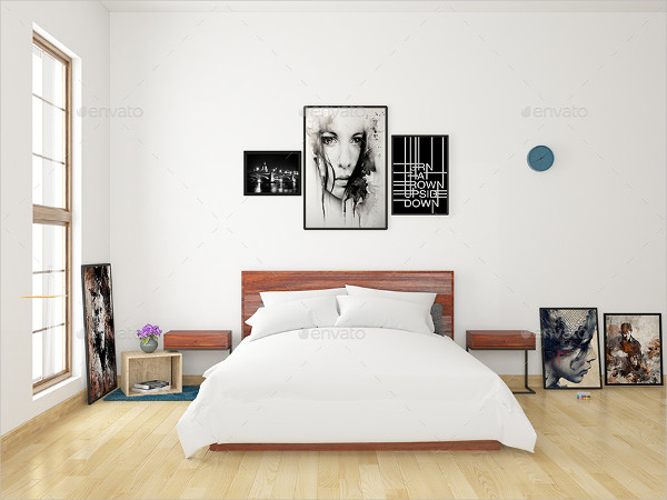Realistic Art Wall Mock-Up Design