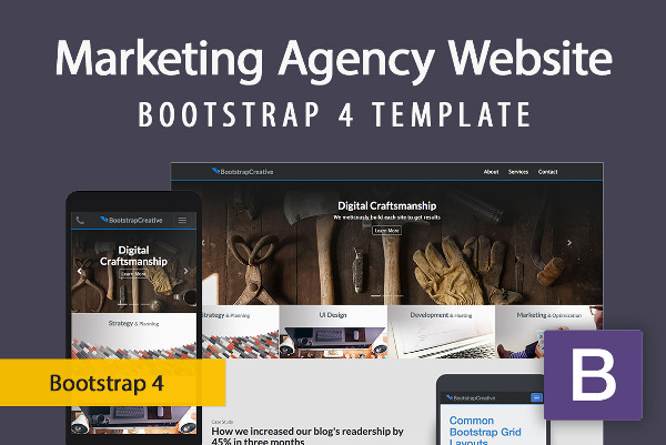 Responsive Marketing Agency Website Bootstrap Template