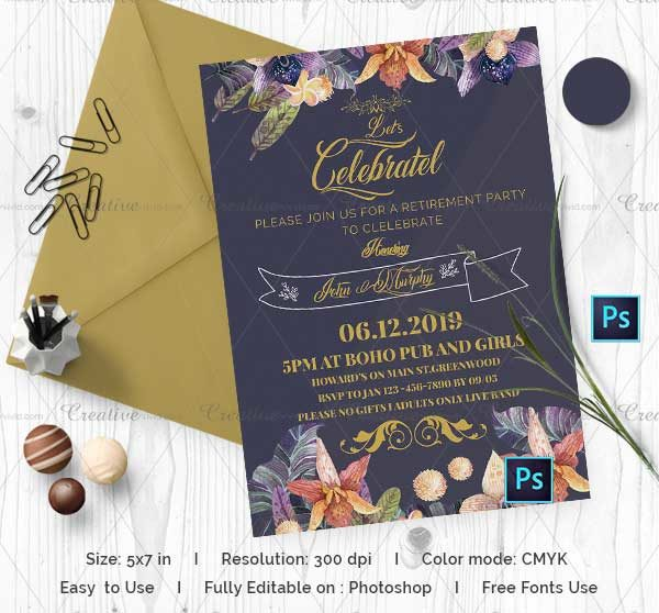 Save The Date Retirement Party
