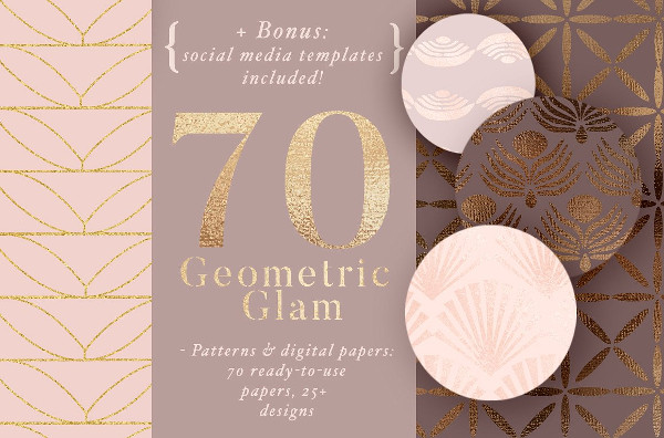 Shiny Geometric Glam Patterns