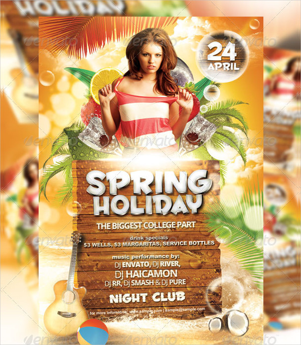 Spring Holiday Party Flyer Template