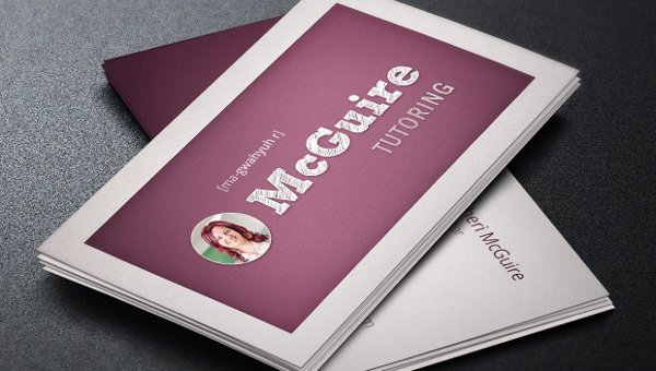 Teacher Business Card Templates