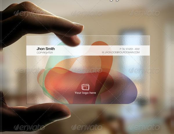 Colorful Transparent Business Card