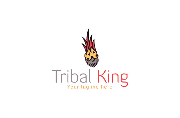 Tribal King Creative Artistic Traditional Logo