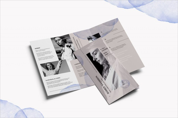 Trifold Fashion Brochure Photoshop Template