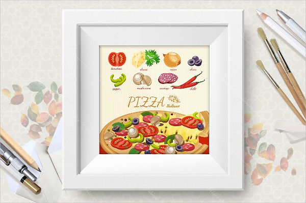Attractive Pizza Poster Design