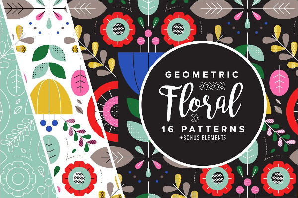 Unique Geometric Floral Patterns