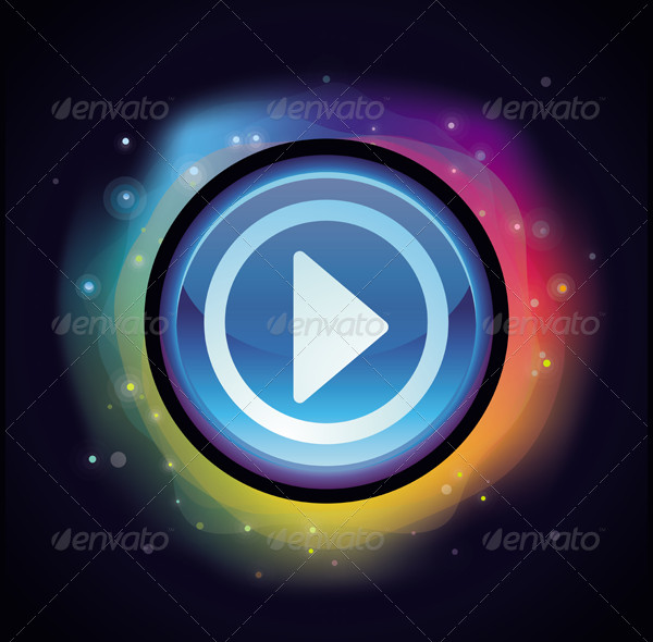 Vector Abstract Background with Play Button