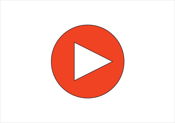 Video Play Button Free Vector