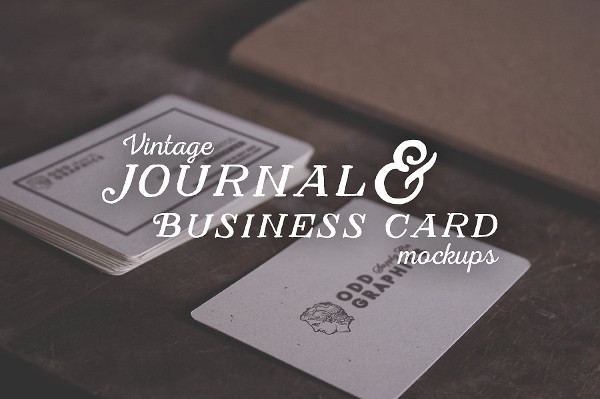 Vintage Business Card & Journal Mockups