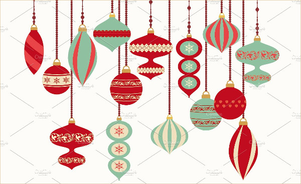 Retro Christmas Ornaments Design
