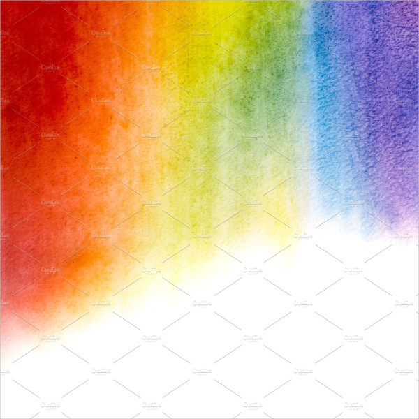 Perfect Watercolor Rainbow Background