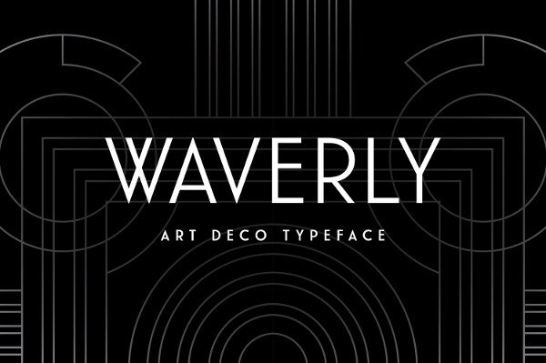 Waverly Art Deco Sans-Serif Font