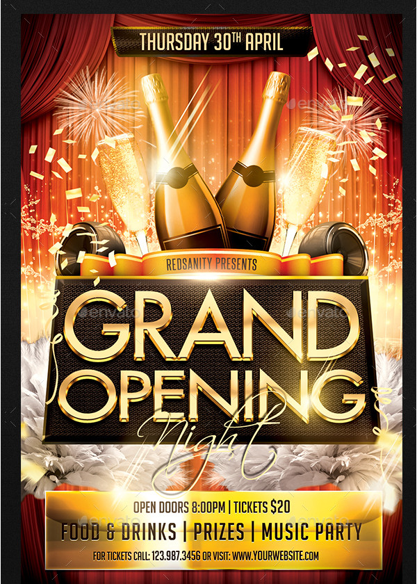 Perfect Party Grand Opening Night Flyer Template