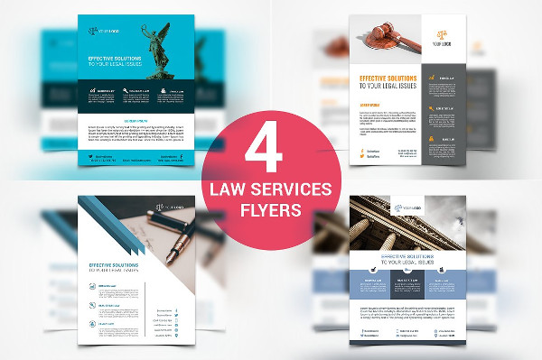 4 Law Firm and Legal Services Flyers
