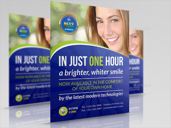 Advertising Dentist Clinic Flyer Template