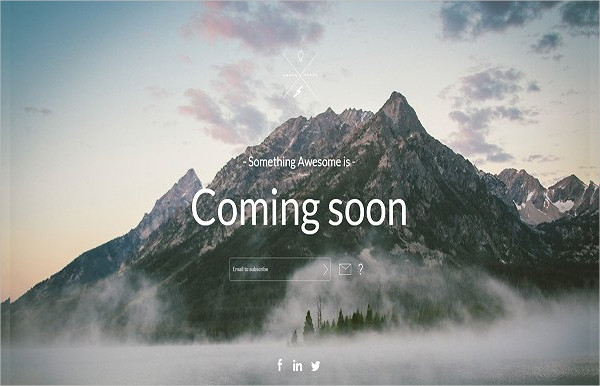 Attractive Coming Soon Page Template