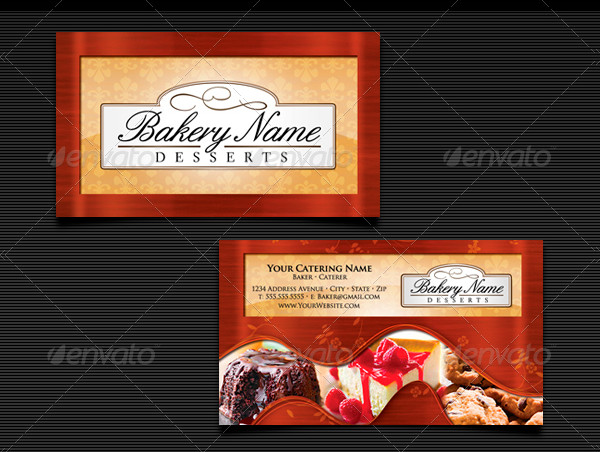 Baker's Catering Business Card Templates