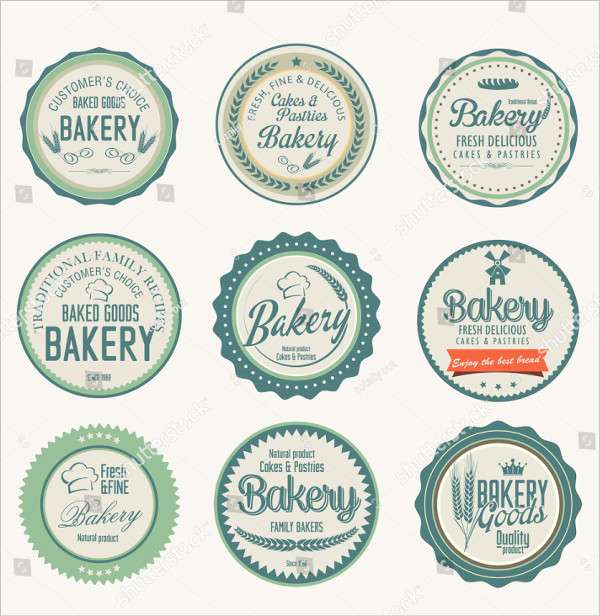 Clean Food Label Template PSD