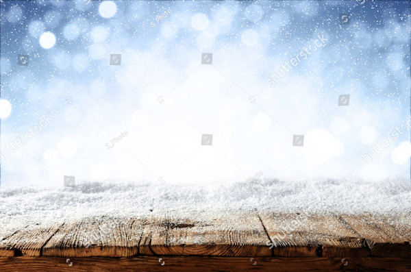Beautiful Blue Blurred Background of Winter