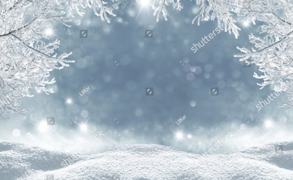 Attractive Winter Christmas Background