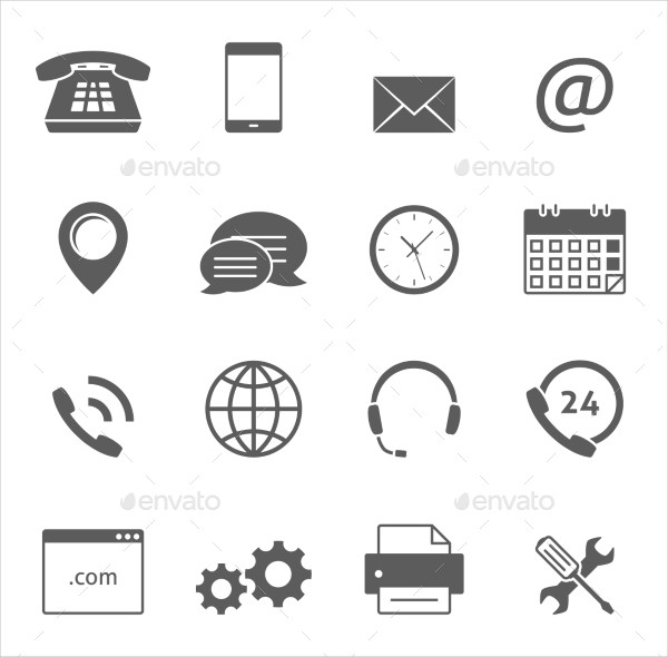 Best Contact Us Icon Set