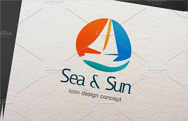 Best Sun & Sea Logo Template