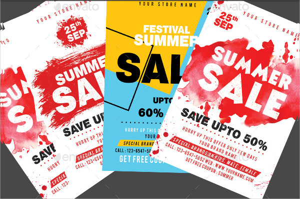 Big Summer Sale Flyers Bundle