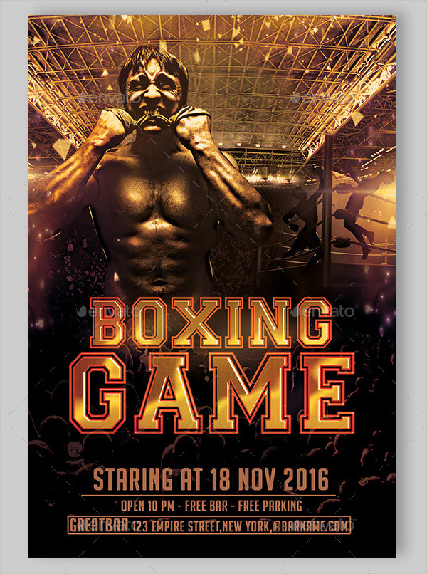 Boxing Day Game Flyer Template