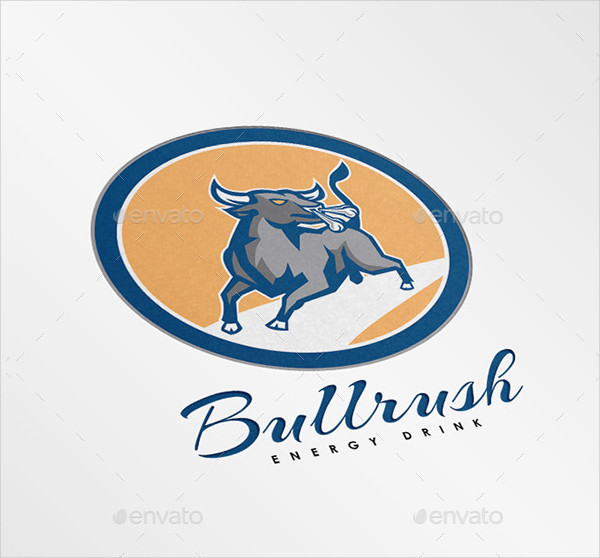 Bull Rush Energy Drinks Logo Design