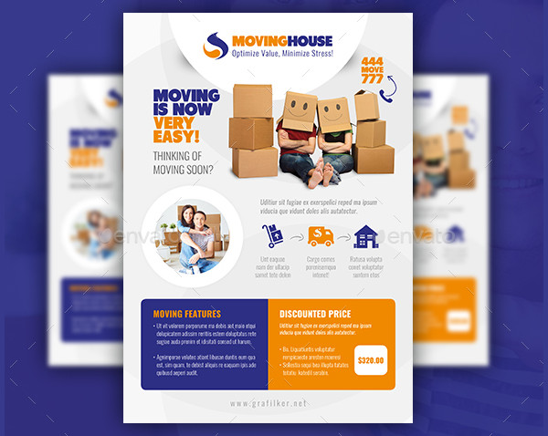 Printable Moving House Flyer Templates