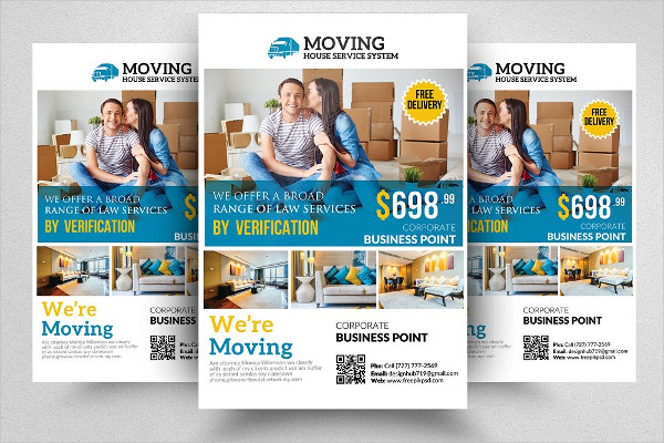 Print Ready Moving House Service Flyer Template