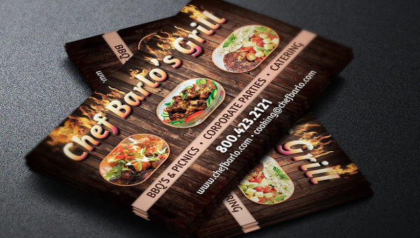 Catering Business Card Templates