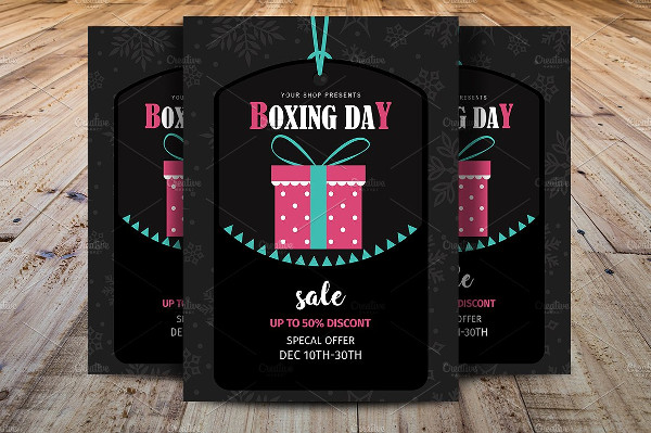 Professional Boxing Day Flyer Template