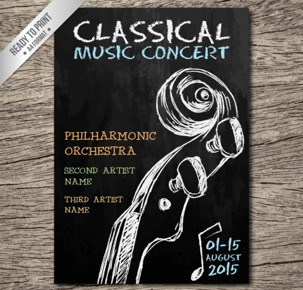 Classical Music Concert Flyer Free Vector