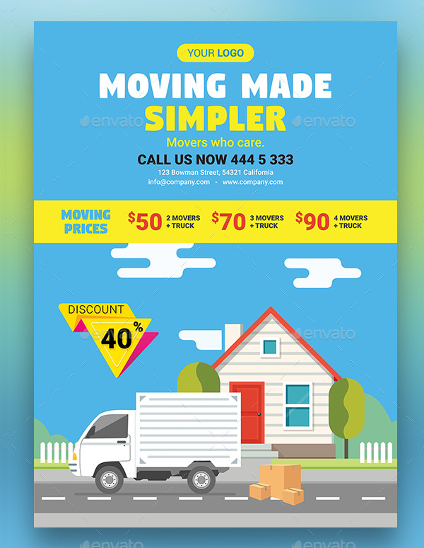 Clean Moving House Business Advertising Flyer