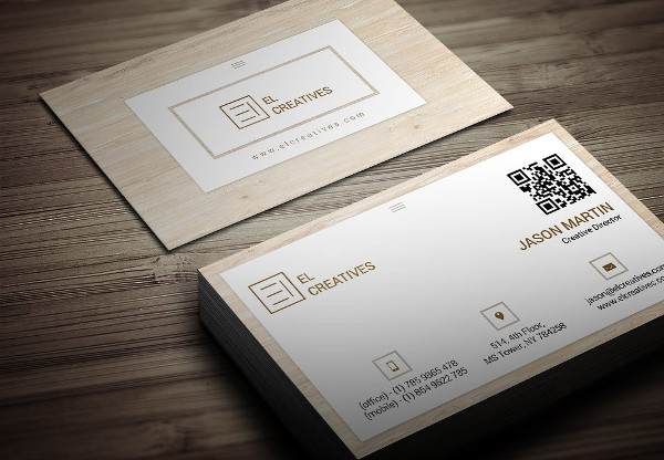 Unique Wooden Style Business Card Design