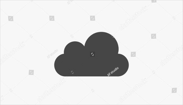 Cloud Icon Vector on White Background