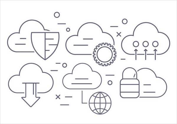Cloud Computing Vector Icons Free Download