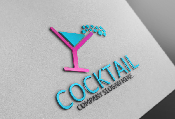 Cool Cocktail Logo Template