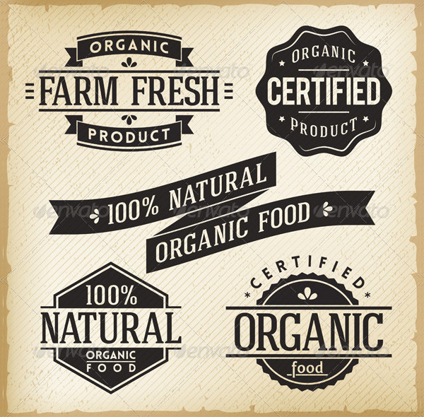 Collection of Organic Food Labels