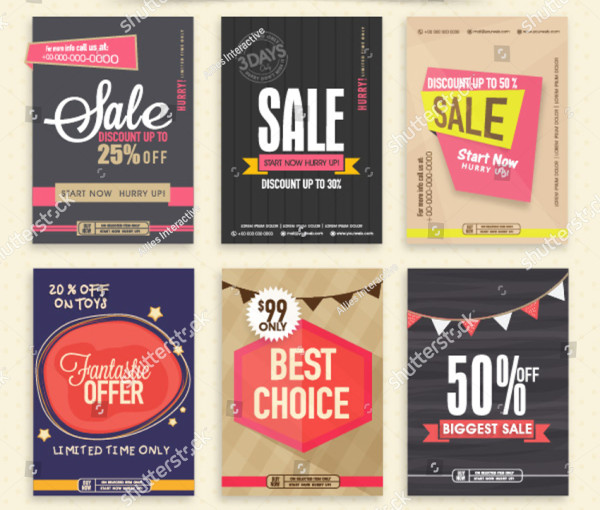 Collection of Six Creative Sale Flyers