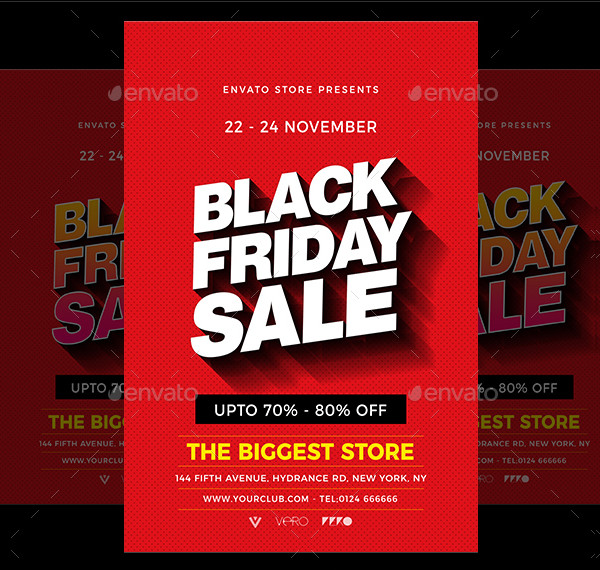 Colorful Black Friday Sale Flyer Template