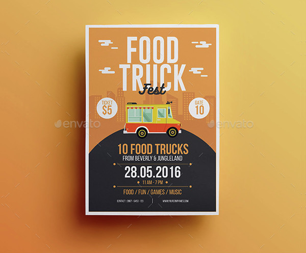 Colorful Food Truck Flyer Template