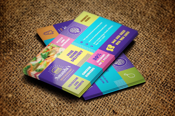 Colorful Food and Restaurant Business Card